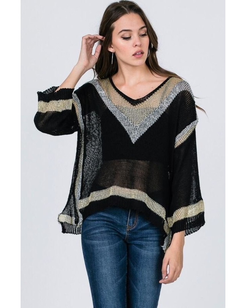 Metallic Light Sweater