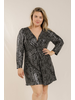 PLUS SIZE - STRIPE SEQUIN ROMPER
