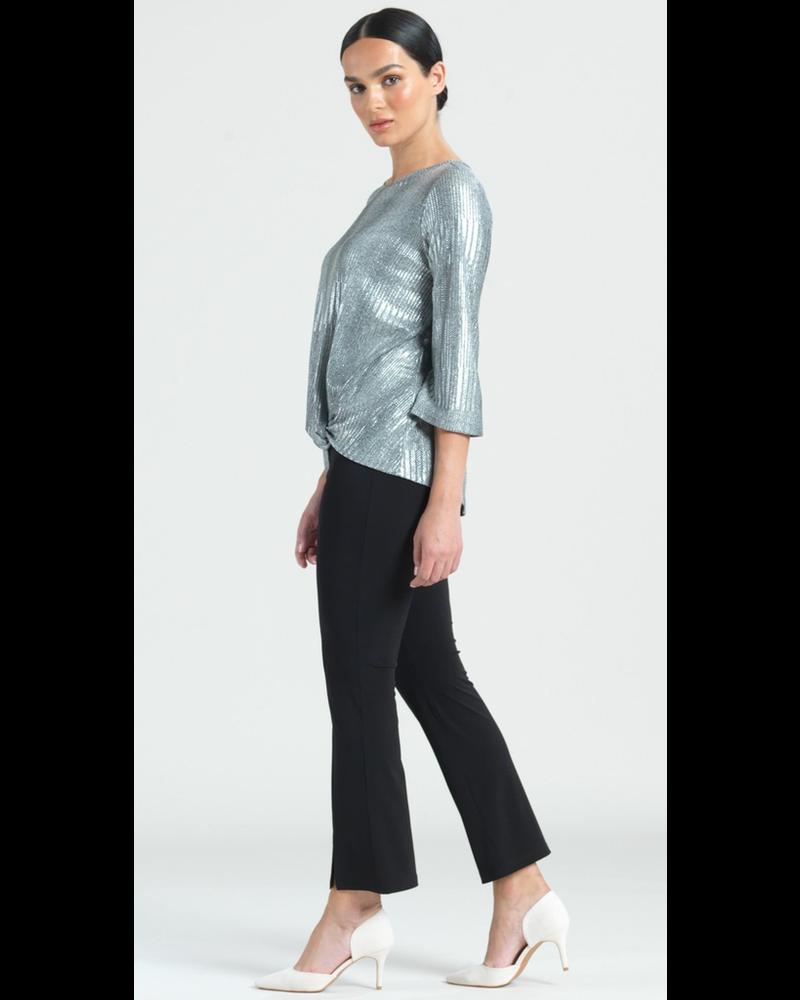 Silver Lamé Twist Hem Top - Limited Sizes!