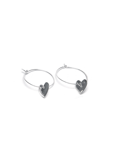 MICROLINE HEART EARRINGS