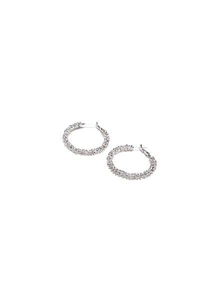 SMALL HOOPS CROCHET EARRING