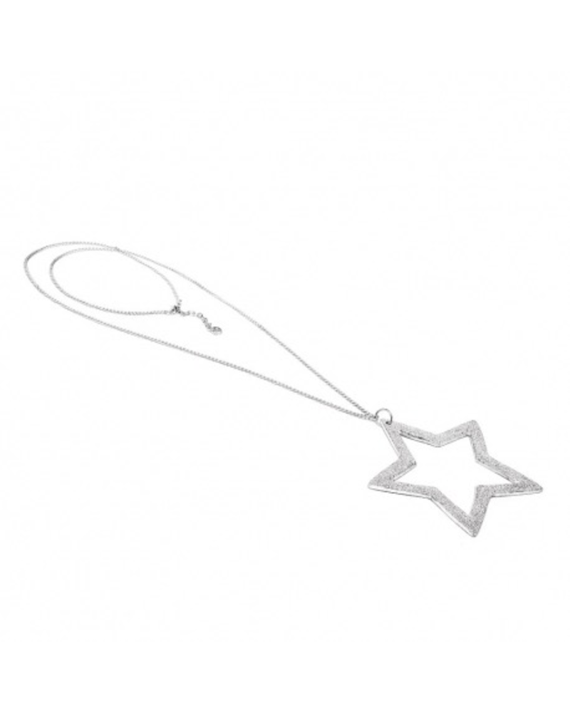 BIG EMPTY STAR NECKLACE