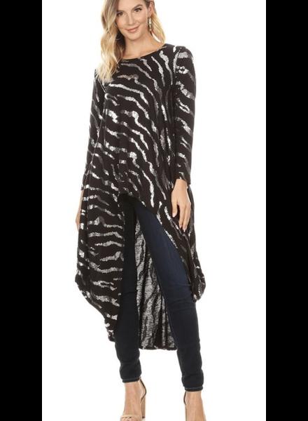 Hi Low Sequin Zebra print