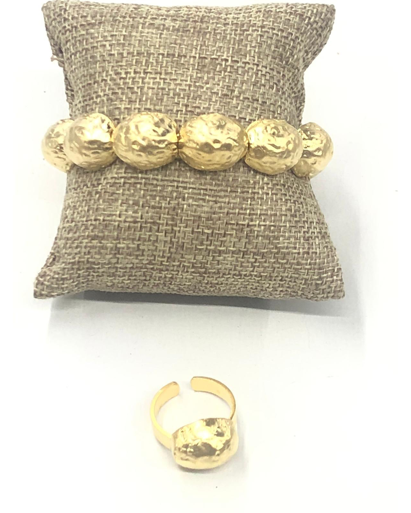 Nugget Set Bracelet and ring