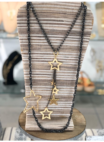 Stars Long Necklace