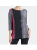Ombre Print Scoop Neck Tunic - Fuchsia