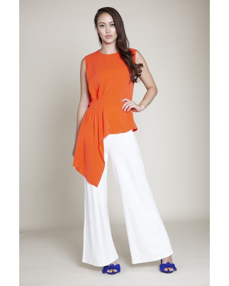 Assymetrical Short Sleeve top