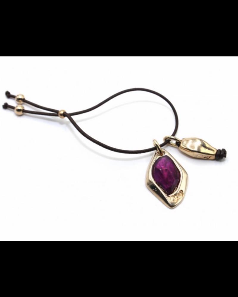 pulsera aspid piedra violeta