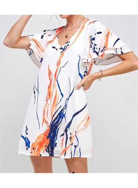 Water COlor Print Dreess
