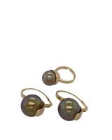Gold Pearl Earings