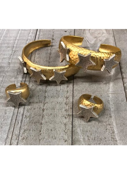 set cuff ring earrings