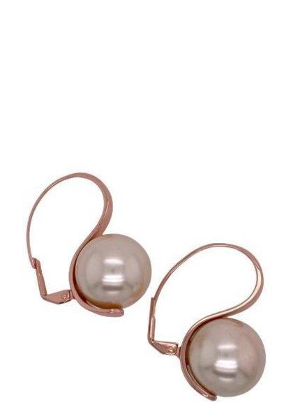 Ball Gold Rose Earrings