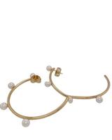 pearl Gold Loops