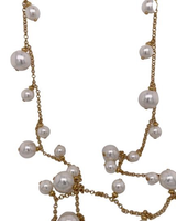 White Pearl Long Necklace