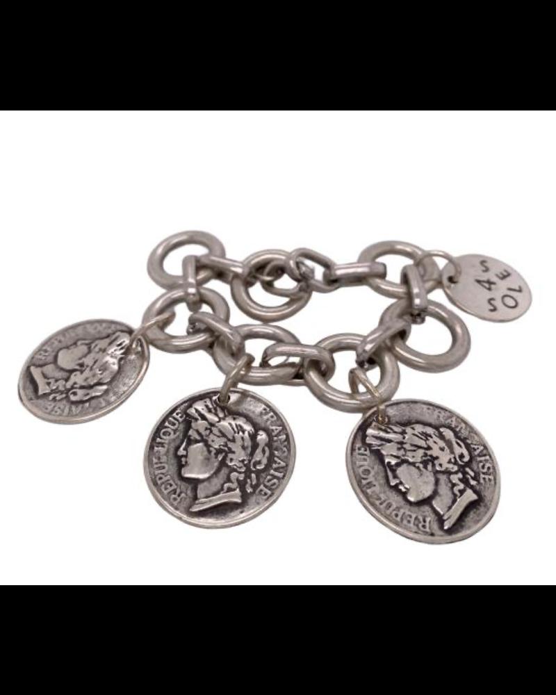 3 coin Bracelet