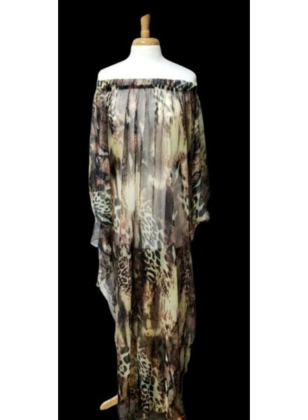 chiffon dress by carlota alfaro