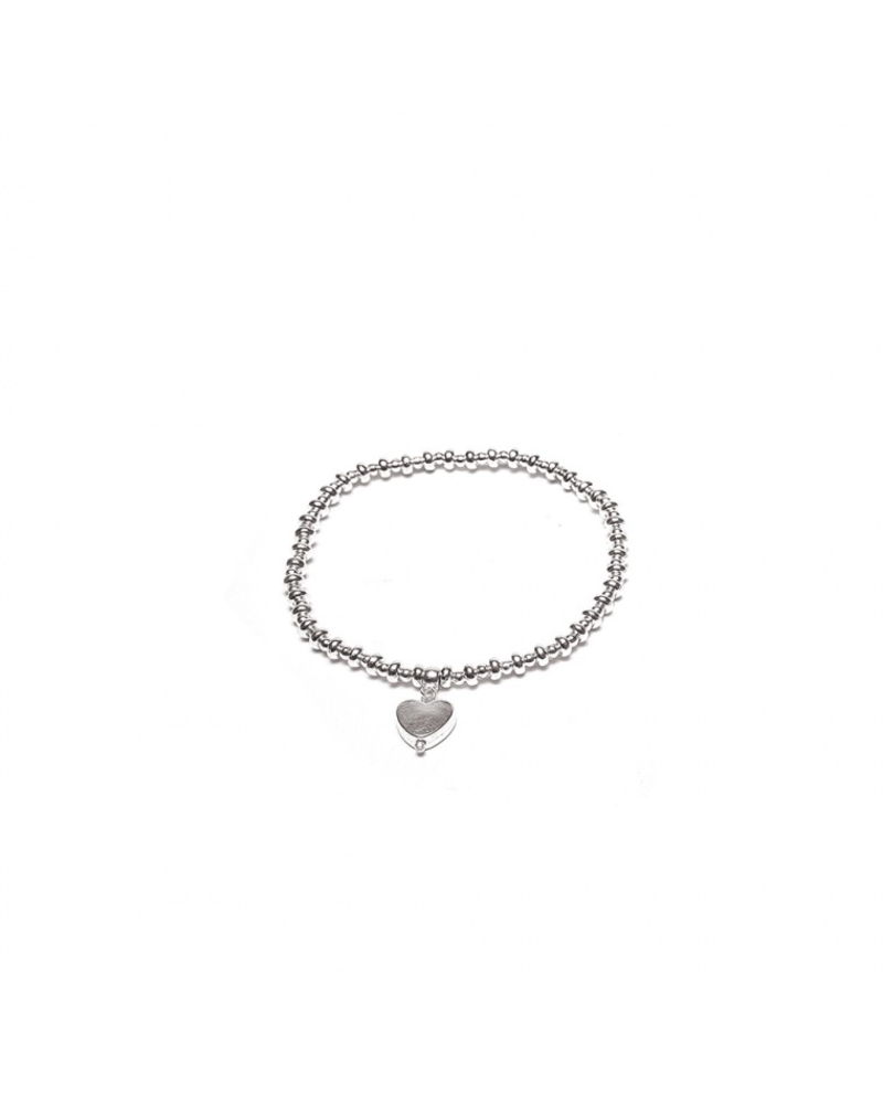 ELASTIC BRACELET SINGLE HEART CHARM