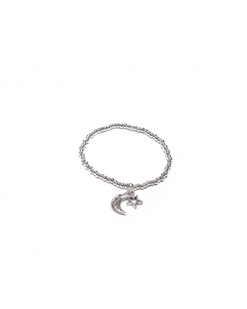 ELASTIC BRACELET STAR & MOON CHARMS
