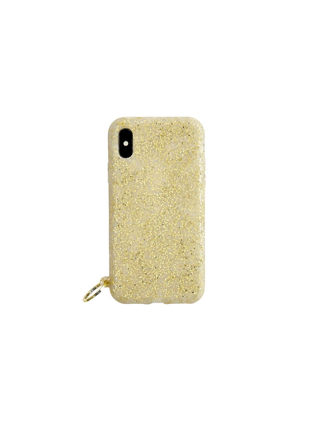 Silicone iPhone Case - Gold Confetti