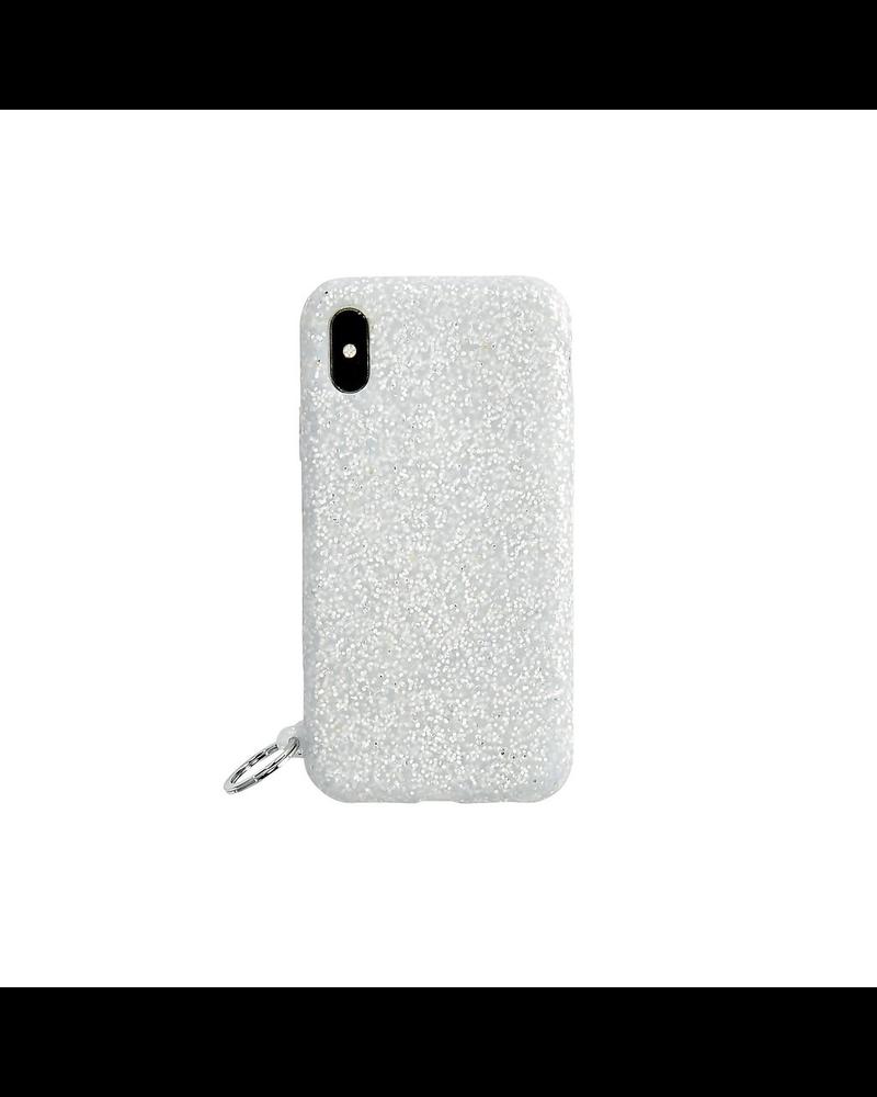 Silicone iPhone Case - Silver Confetti