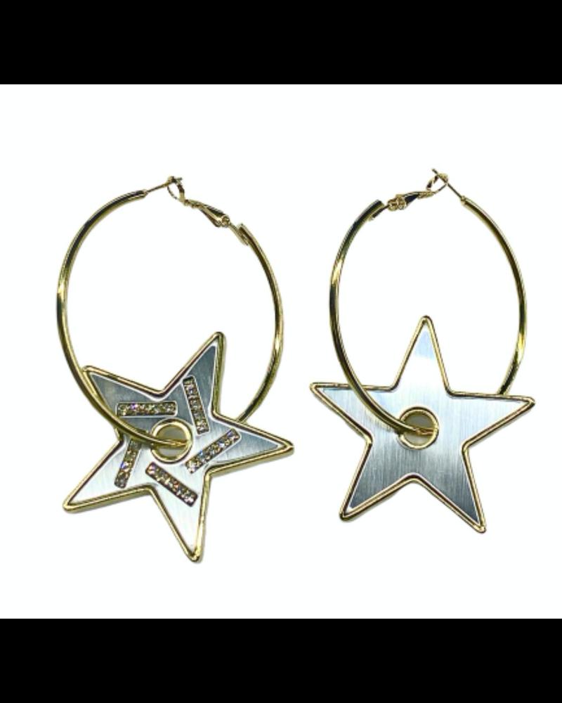 Mirror Star Earrings