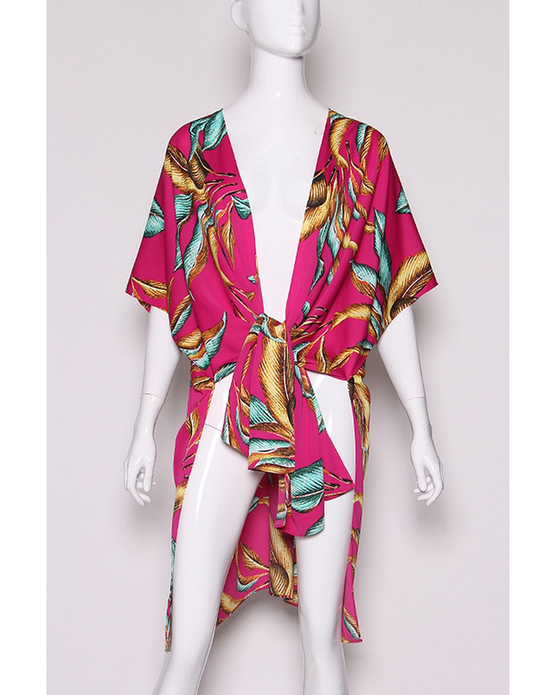 Gilded Leaf Caftan Kimono
