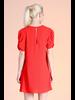 Textured Solid Statement Sleeve Dress