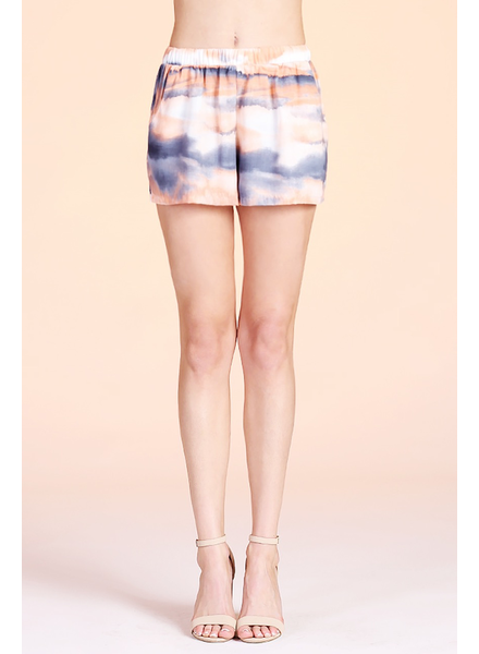 Cloud Tie Dye Pocket Shorts