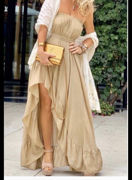 "Strapple Long Dress 5"" Ruffle Skirt or Dress"