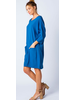 KNIT DOLMAN TUNIC DRESS WITH APRON POCKETS