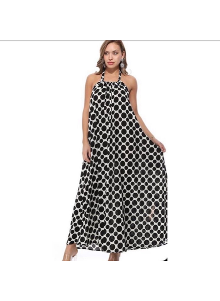 One size fits all<br /> polk a dot maxi dress