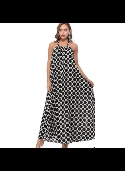 One size fits all<br /> polk a dot maxi dress
