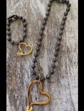 bracelet grafito small heart