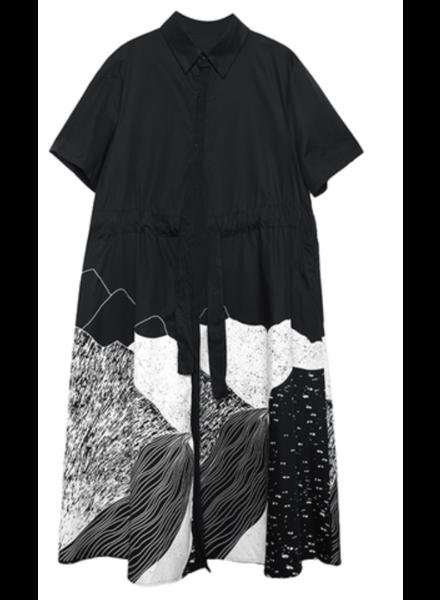 Midi Dress Over Size Dress<br /> black or white