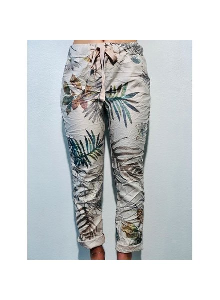 Jegging pants T/D. Elastic waistband with Lurex<br /> <br /> One size<br /> <br /> Viscose/Elastan<br /> <br /> Made in Italy