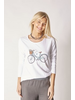       LS T-SHIRT WITH BICYCLE PRINT AND DAZZLES