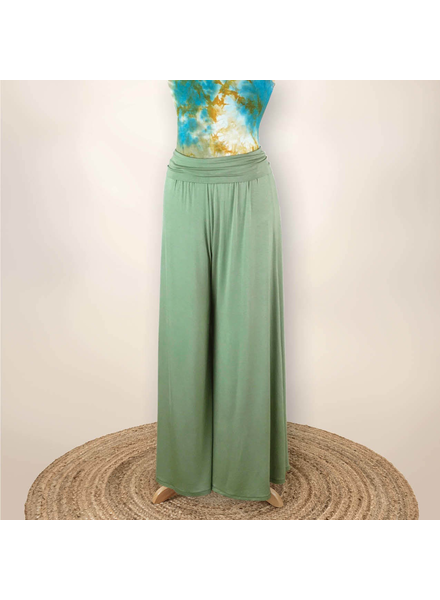 Tillie Gaucho Pants - Cactus Green