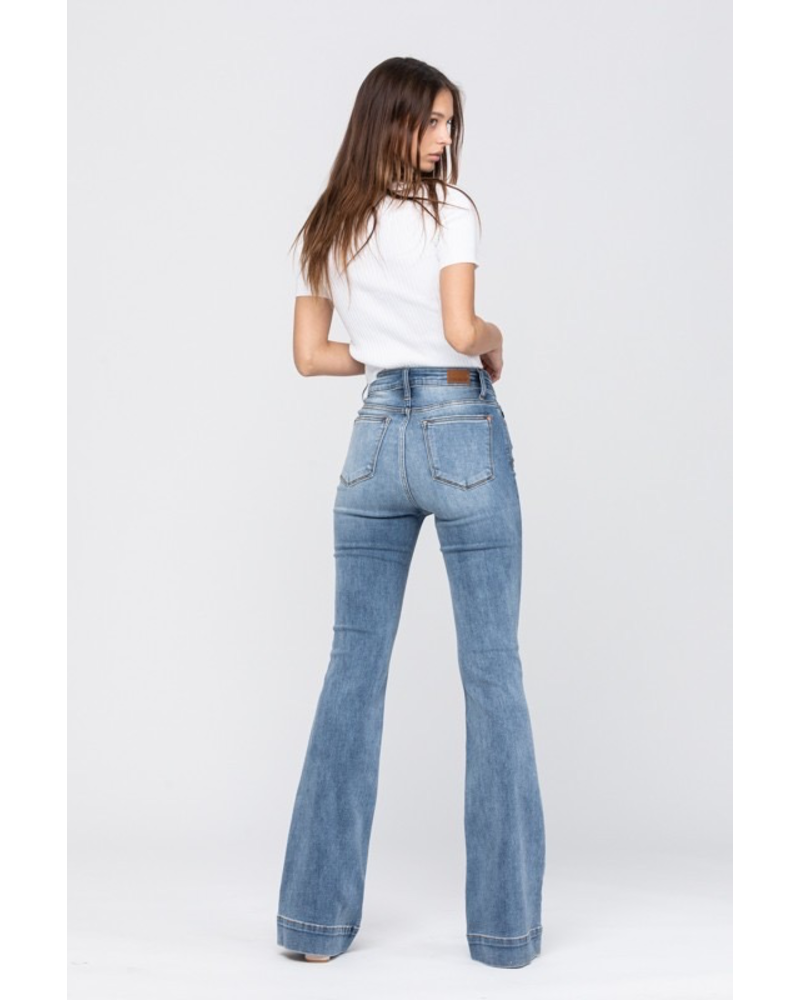 Mid-Rise Trouser Flare