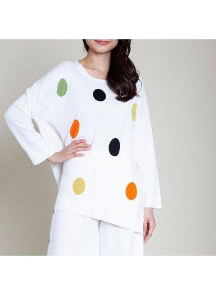 Light sweater polka dot