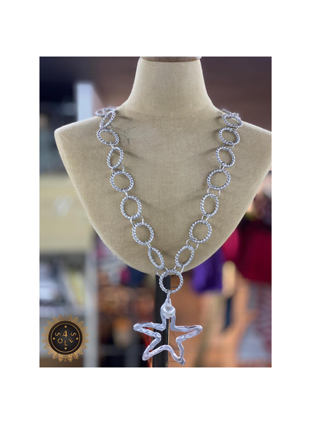 Big Chain Silver plated Necklace