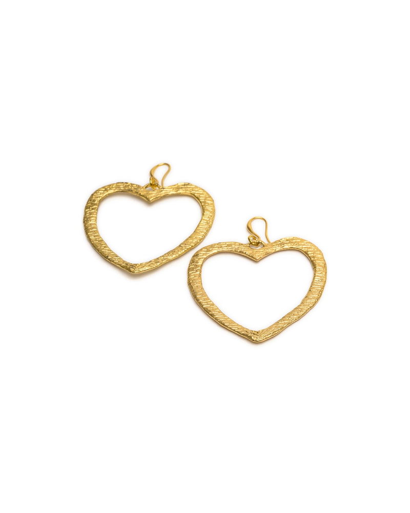 EARRINGS FLAT HEART