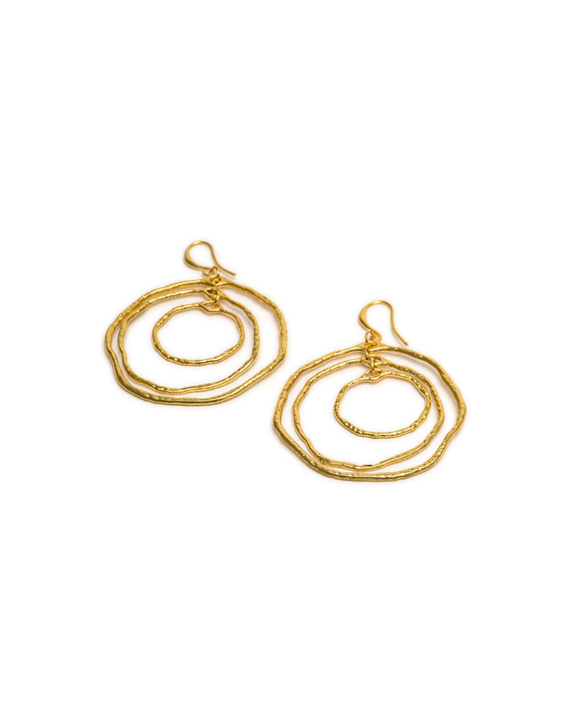 EARRINGS IRREGULAR CONCENTRIC CIRCLES