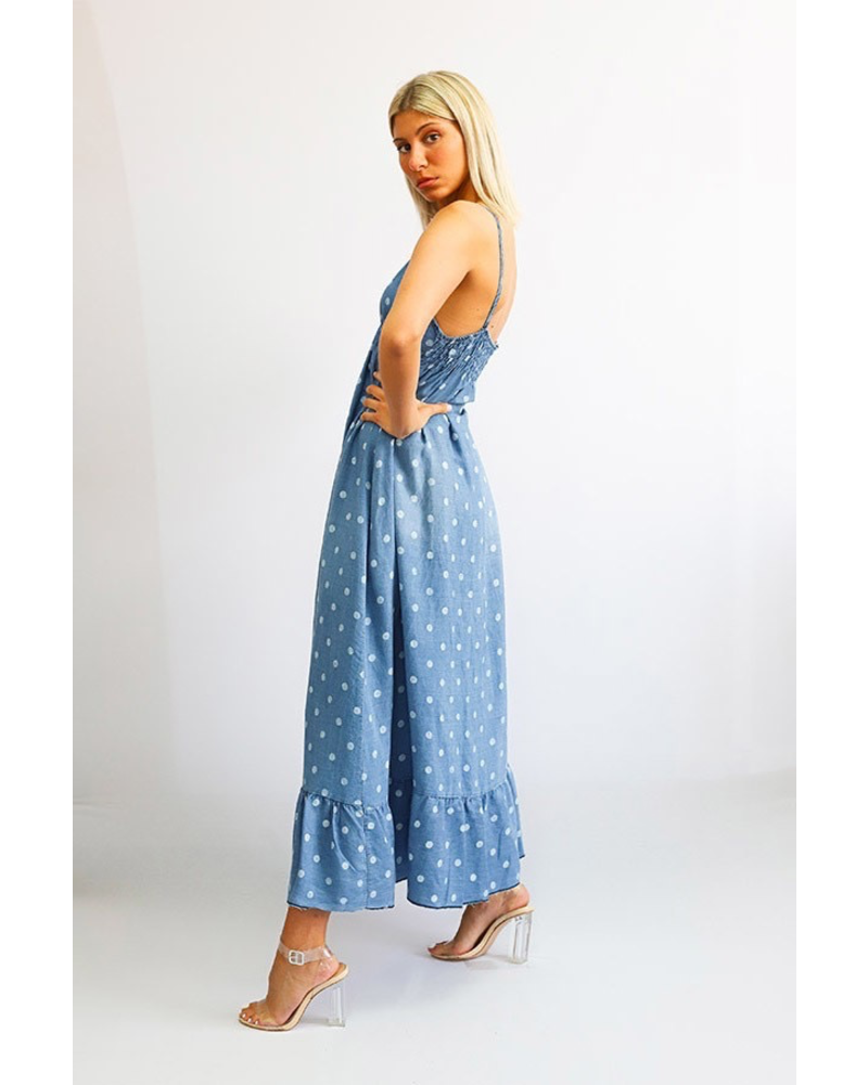 Denim Maxi dressone size