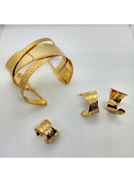 cuff, brass gold hand made