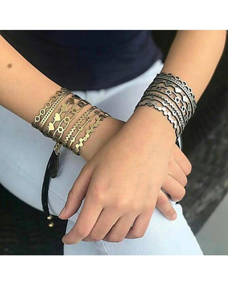 Lazer Cut Leather Bracelet