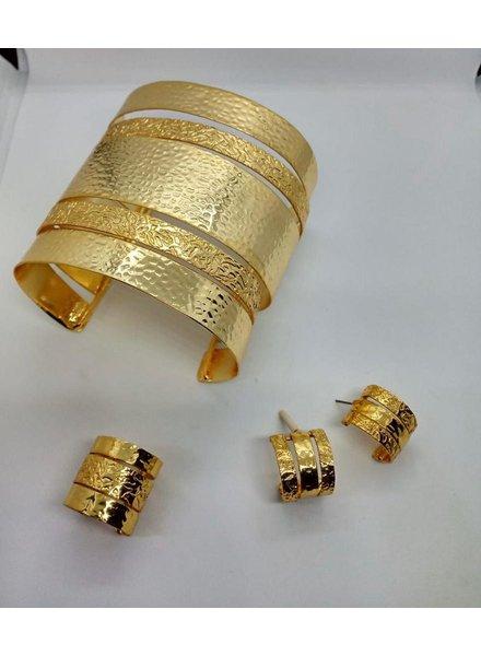 cuff brass gold, hand made