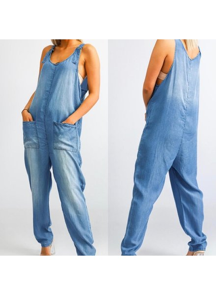 Soft Denim Overall one size