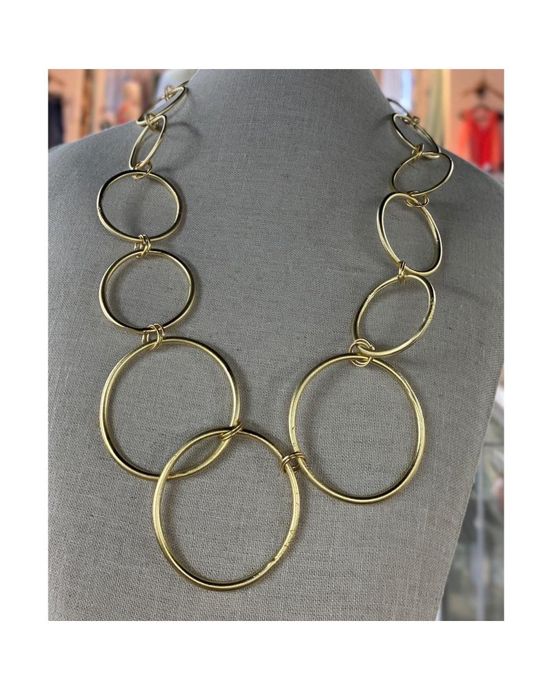 Circle  Short Necklace