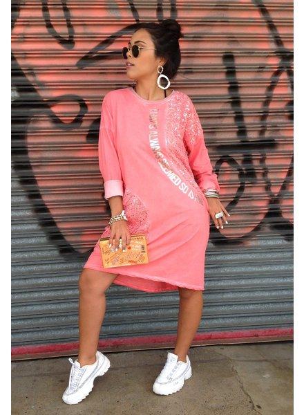 t shirt dress with sequins, 100% cotton