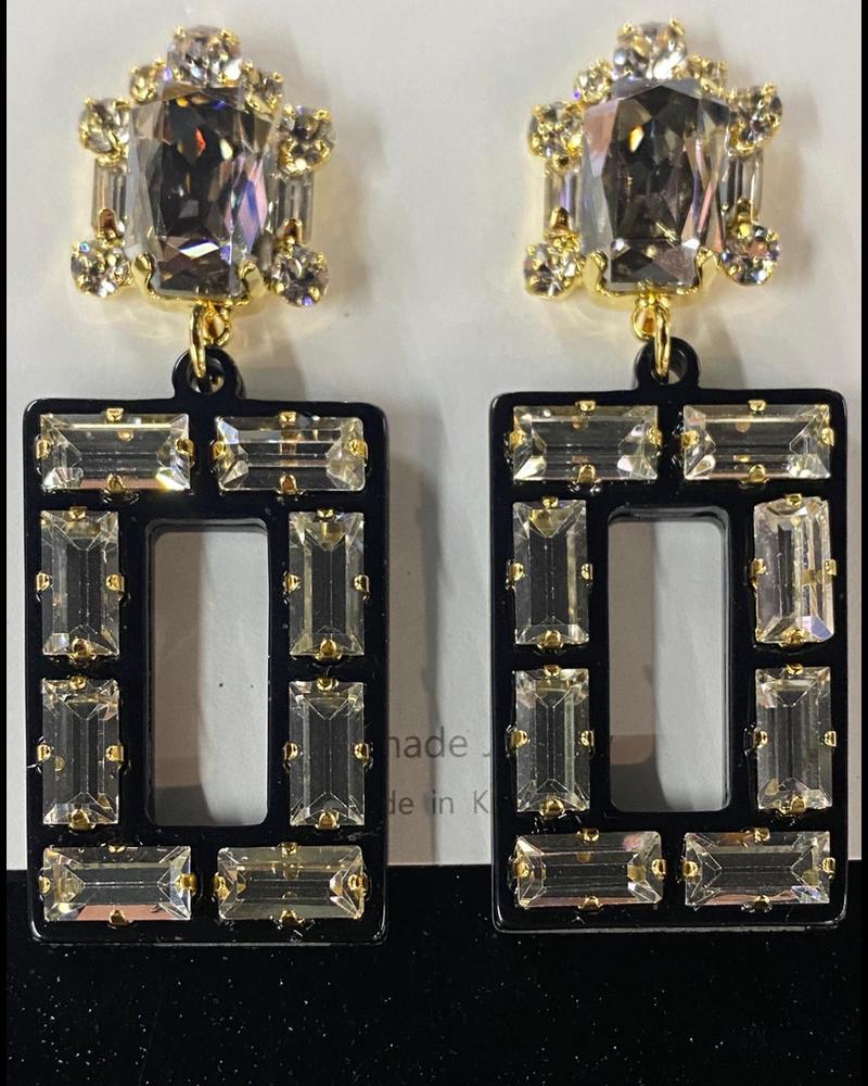 acrilico y cristal aretes